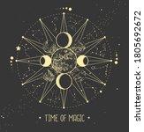 modern magic witchcraft... | Shutterstock .eps vector #1805692672