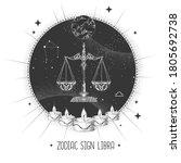 modern magic witchcraft card...   Shutterstock .eps vector #1805692738