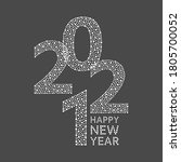 happy new year 2021 greeting... | Shutterstock .eps vector #1805700052