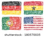 Crayon Draw Of Country Flags ...