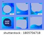 set of editable post template... | Shutterstock .eps vector #1805706718