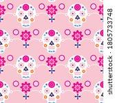 mexican seamless pattern  sugar ...