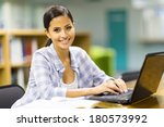 happy female college student... | Shutterstock . vector #180573992