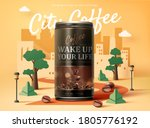 sugar free black coffee ad... | Shutterstock .eps vector #1805776192
