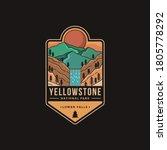 lineart emblem patch logo... | Shutterstock .eps vector #1805778292