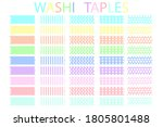 strips of duct tape. colored... | Shutterstock .eps vector #1805801488