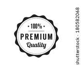 retro  premium quality label | Shutterstock .eps vector #180582068