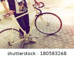 young handsome stylish hipster... | Shutterstock . vector #180583268