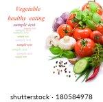 vegetables isolated on white... | Shutterstock . vector #180584978