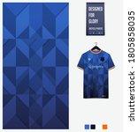 blue gradient geometry shape... | Shutterstock .eps vector #1805858035