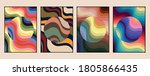 wavy patterns  backgrounds... | Shutterstock .eps vector #1805866435