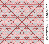 seamless pattern of triangles.... | Shutterstock .eps vector #1805868745