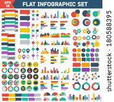 flat infographic elements set.... | Shutterstock .eps vector #180588395