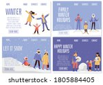 happy family on winter vacation ... | Shutterstock .eps vector #1805884405