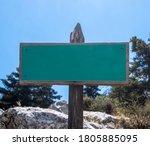 Green Blank Signboard Mockup On ...