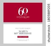 60 years anniversary invitation ... | Shutterstock .eps vector #1805889205