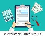 health insurance. medical... | Shutterstock .eps vector #1805889715