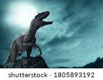 Dinosaur  tyrannosaurus rex in...