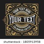 vintage logo or banner layout... | Shutterstock .eps vector #1805913958