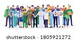 group of different occupations... | Shutterstock .eps vector #1805921272