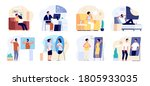 people and mirrors. dreamy... | Shutterstock .eps vector #1805933035