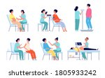 pregnant woman medical check up.... | Shutterstock .eps vector #1805933242