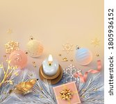 christmas and new year card.... | Shutterstock . vector #1805936152