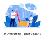 science researching lab.... | Shutterstock .eps vector #1805953648