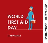 world first aid day. global... | Shutterstock .eps vector #1805981905