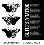 set of butterfly silhouettes .... | Shutterstock . vector #1805984575
