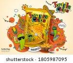 Tortilla Corn Chip Bag In 3d...
