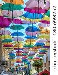Colorful Umbrellas Cover A...
