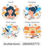 plastic surgeon concept set....   Shutterstock .eps vector #1806003772