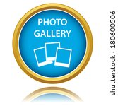 photo gallery icon on a white...