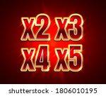 bonus 2x  3x  4x  5x prize... | Shutterstock .eps vector #1806010195