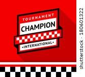 racing badge 08  vector... | Shutterstock .eps vector #180601322