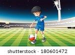 illustration of a soccer player ... | Shutterstock .eps vector #180601472