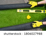 Artificial Grass Roll And Tools ...