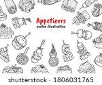 appetizer finger food poster... | Shutterstock .eps vector #1806031765