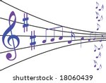 abstract musical notes theme | Shutterstock .eps vector #18060439