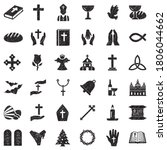 Christianity Icons. Black...