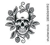 a beer skull vector... | Shutterstock .eps vector #1806064492