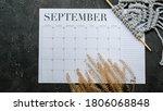 Flat Lay Calendar With Autumn...