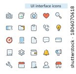 ui interface vector icons set.
