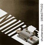 Vintage Typewriter  Drink And...