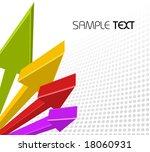 3d abstract business concept  ... | Shutterstock .eps vector #18060931