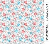 flower ball geometric pattern... | Shutterstock .eps vector #1806093775