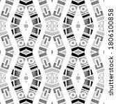 watercolor tribal geometric... | Shutterstock . vector #1806100858