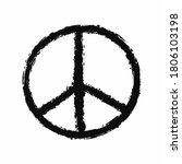peace sign painted with a rough ... | Shutterstock .eps vector #1806103198