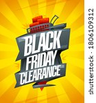 black friday clearance  sale... | Shutterstock .eps vector #1806109312